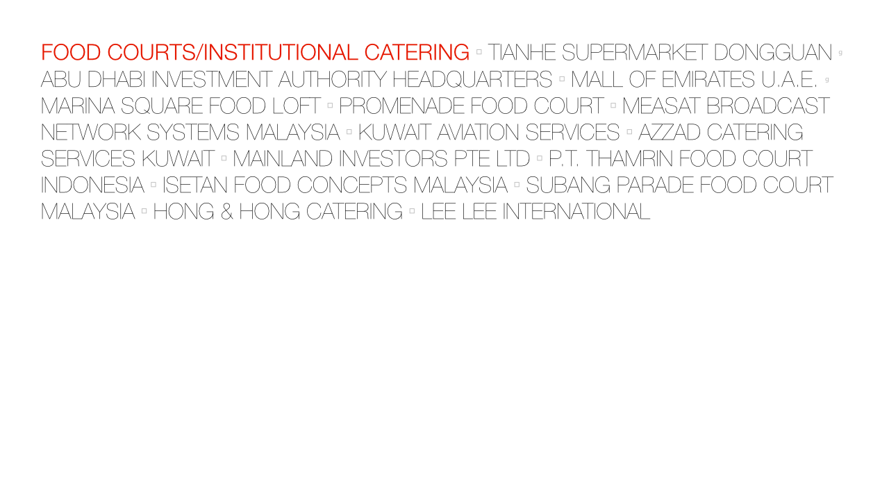 Food Courts / Institutional Catering « Focus Hospitality Inc